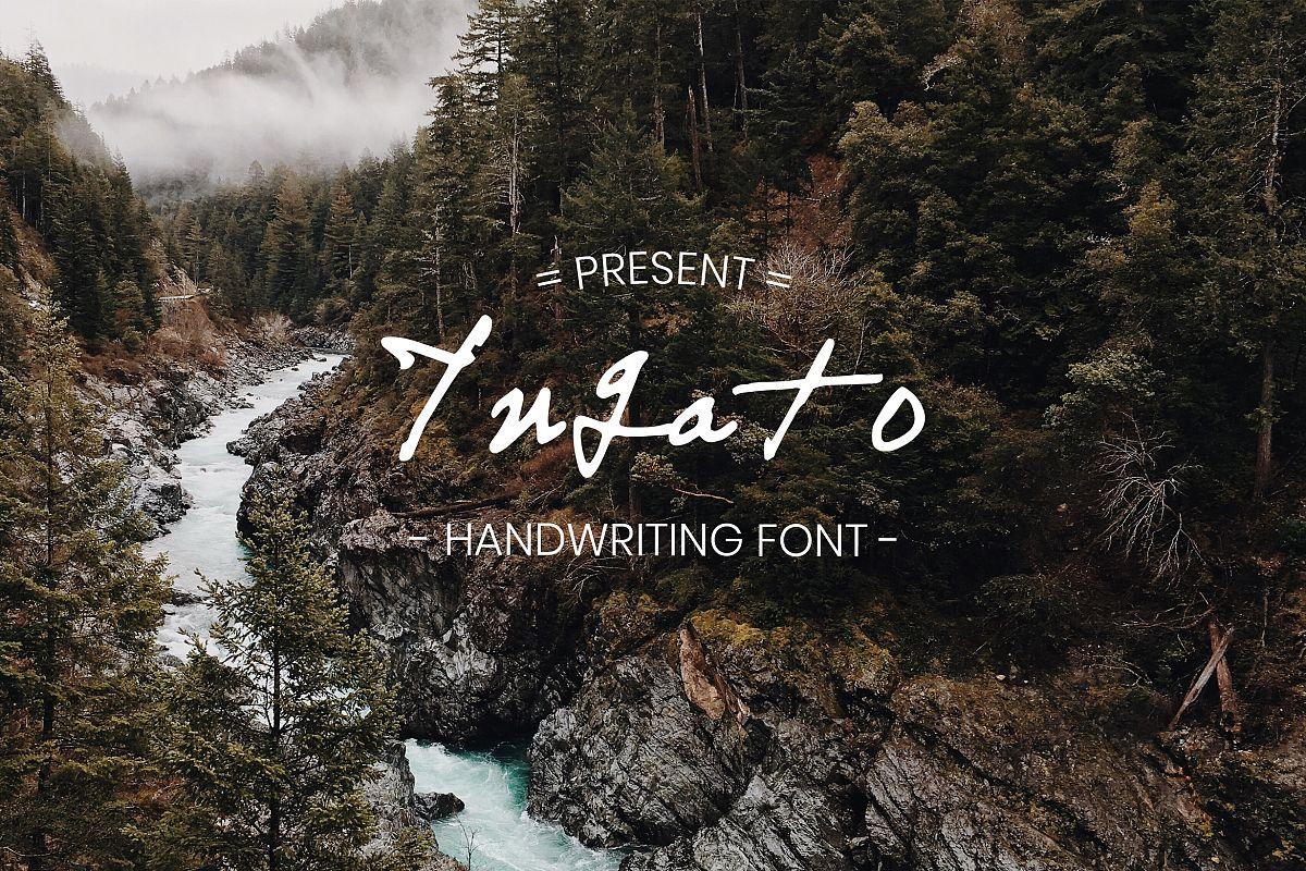Yuqato Handwriting Font example image 1