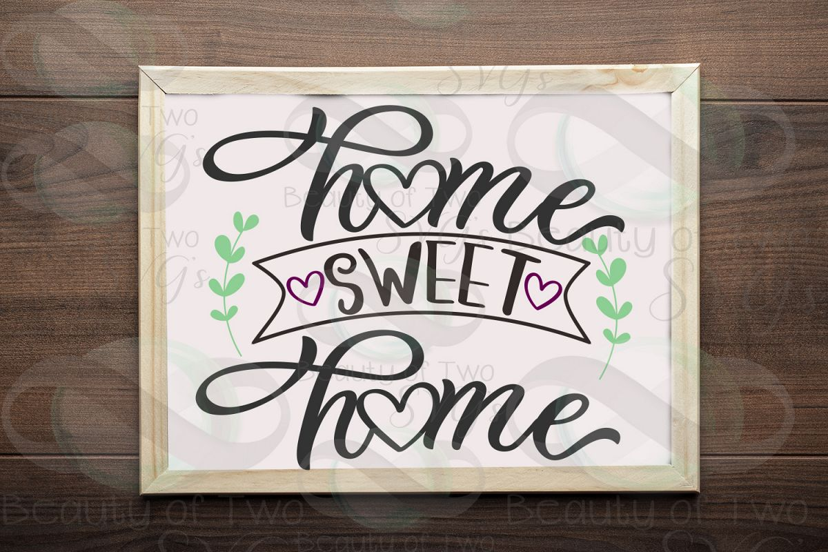 Home Sweet Home sign svg Home Rustic Sign Design svg and png example image 1