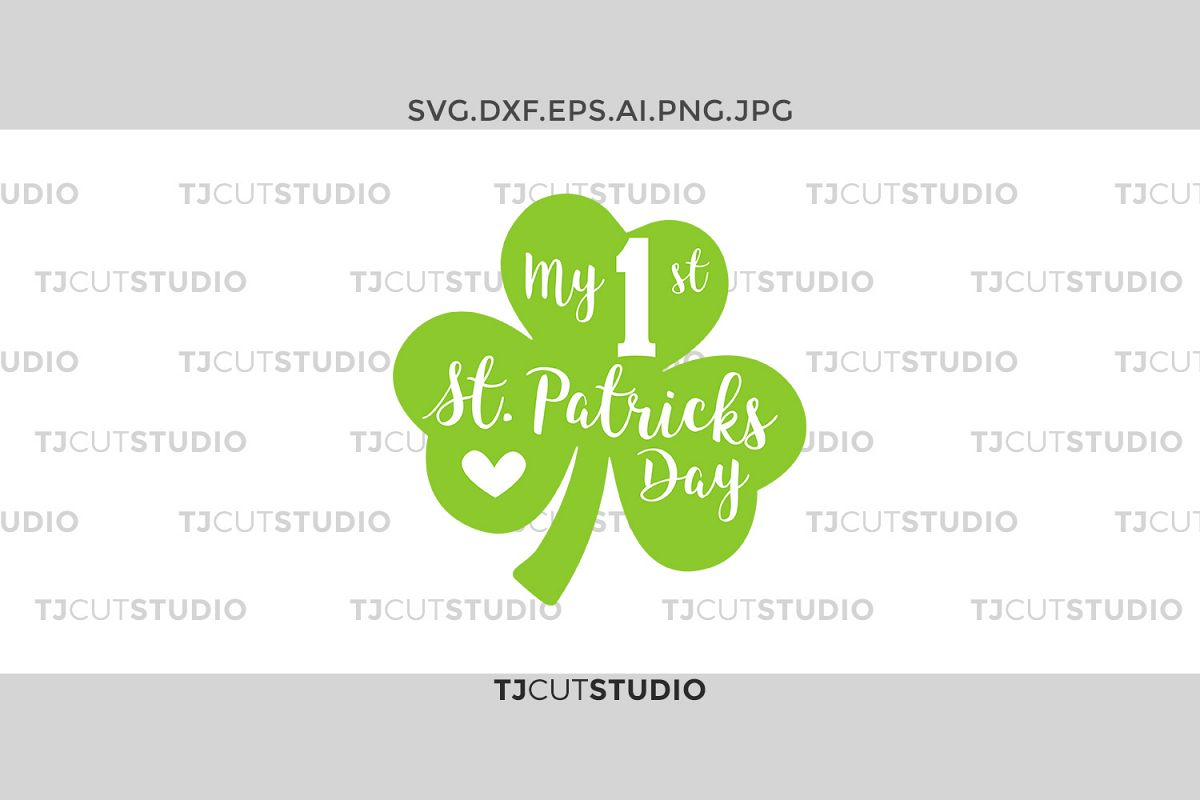 My first st patrick svg, my first st patricks girl,saint patricks svg, Svg Files for Silhouette Cameo or Cricut, Commercial & Personal Use. example image 1