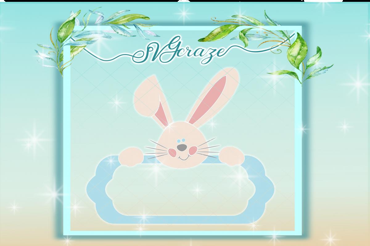 Easter Bunny Svg, Bunny SVG, Monogram SVG example image 1