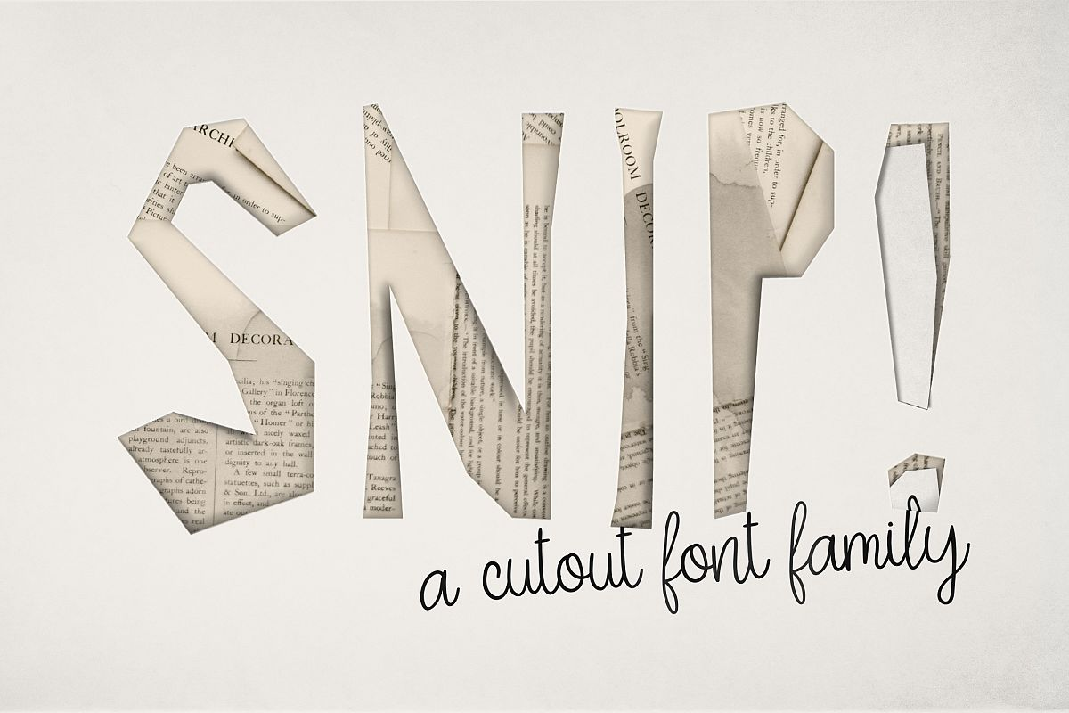 SNIP! Font Family example image 1