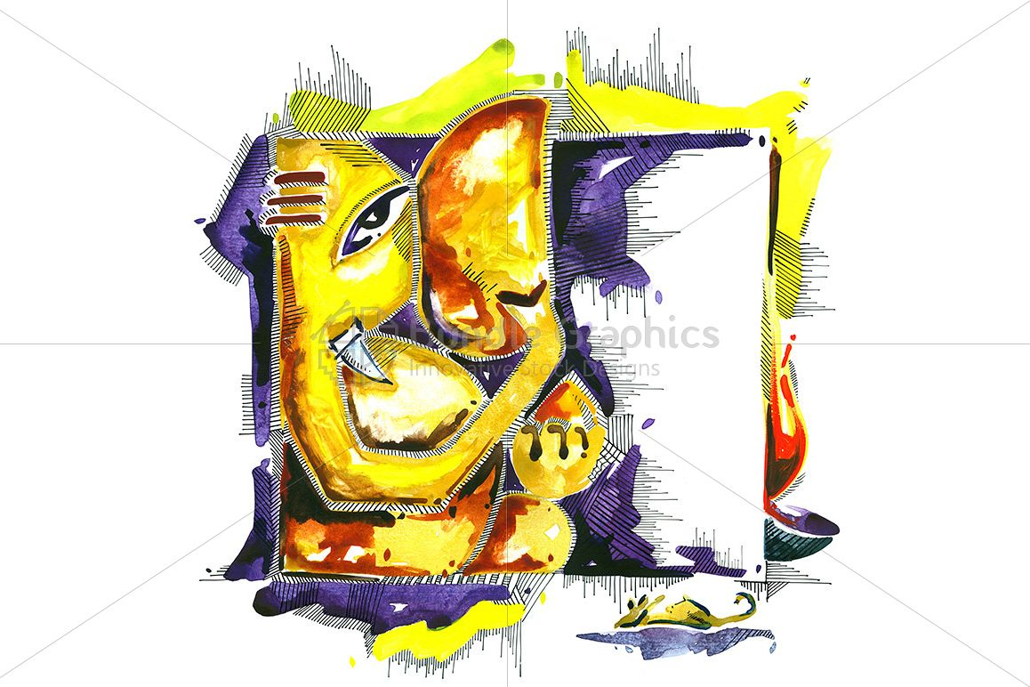 Shri Ganesha -  Abstract Painting example image 1