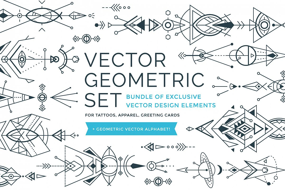 Vector Geometric Set example image 1