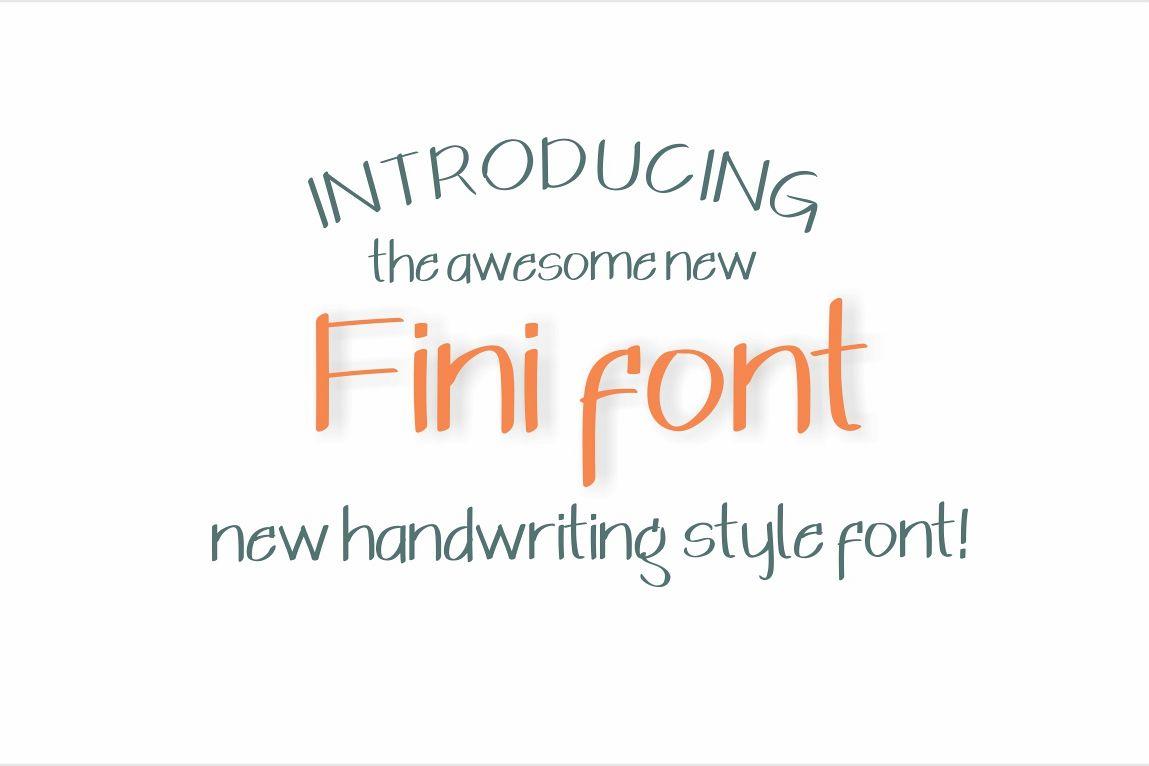 Fini Font example image 1