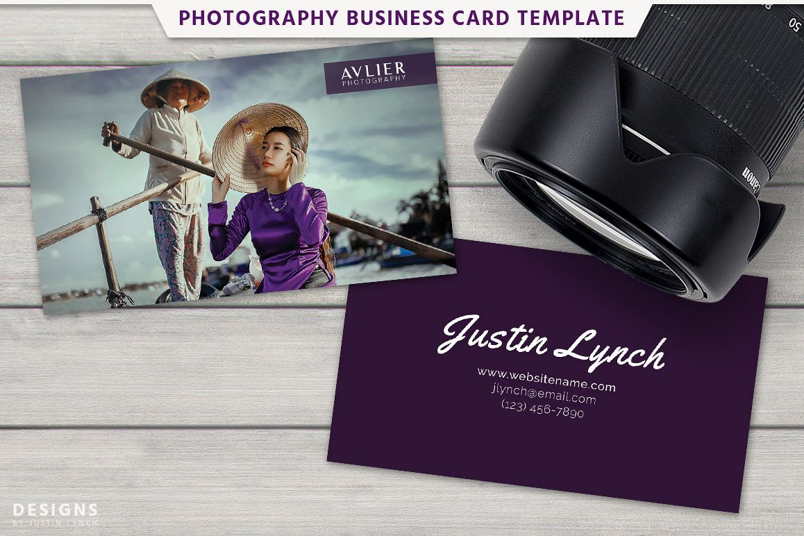 Photography business card design by des design bundles photography business card design example image reheart Image collections