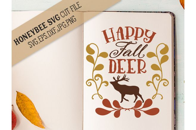 Happy Fall Deer svg example image 1