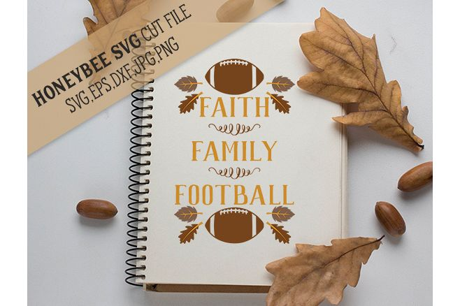 Faith Family Football svg example image 1