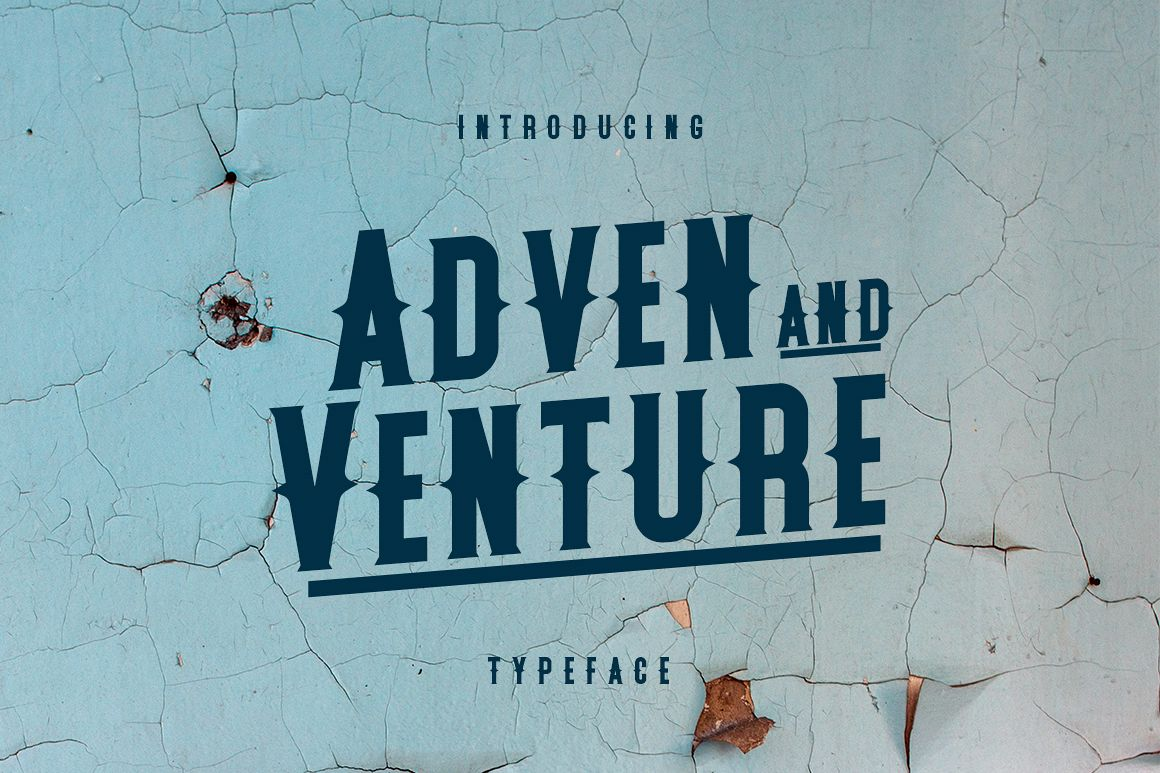 Adven and Venture Typeface example image 1