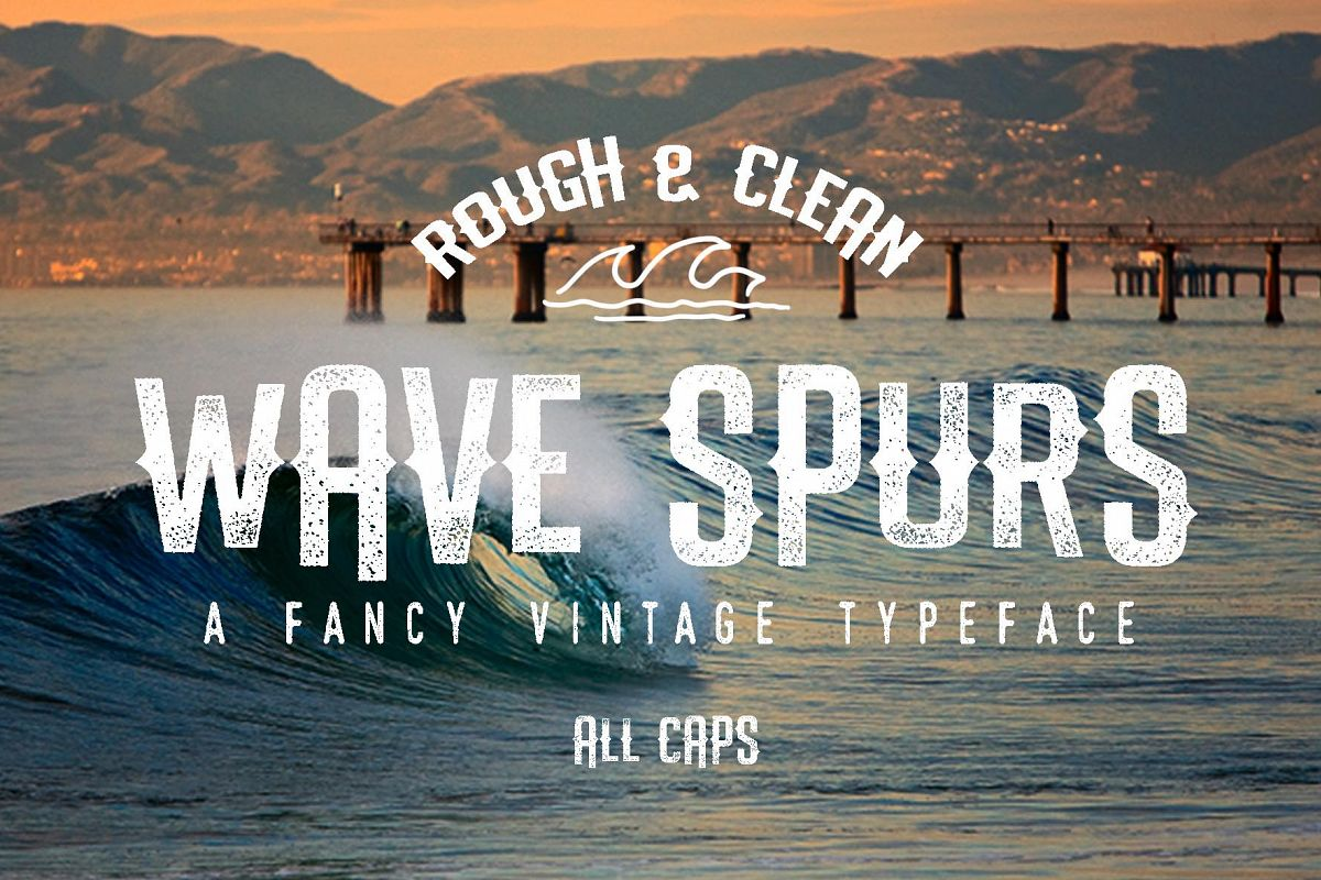 The Wave Spurs Typeface example image 1