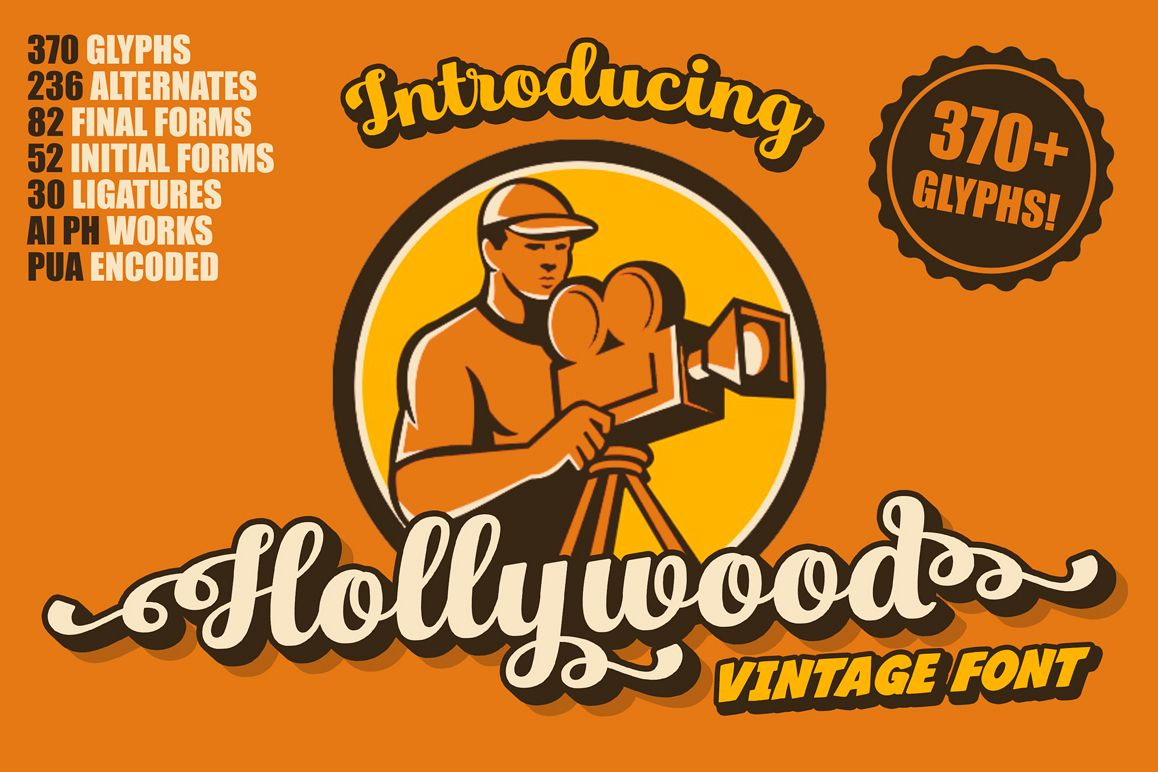 Hollywood • Vintage Font example image 1