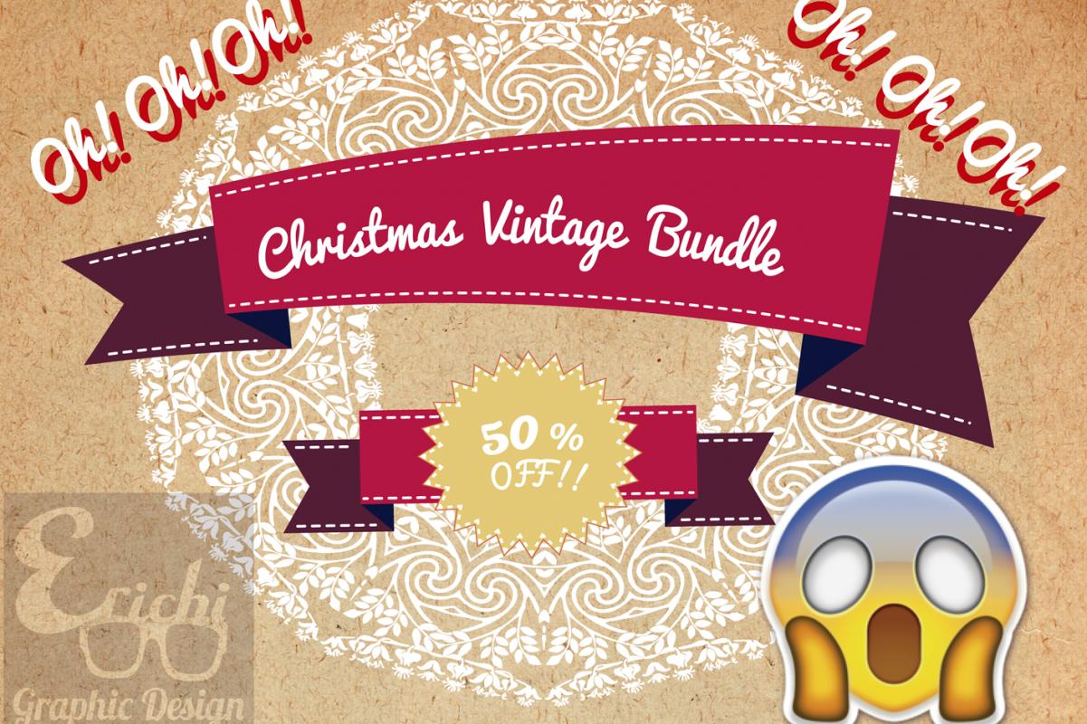 Christmas Vintage Bundle example image 1