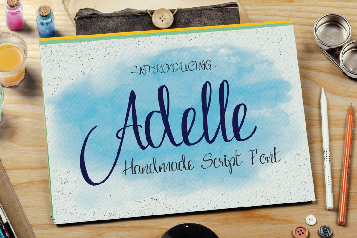 Adelle Script Typeface example image