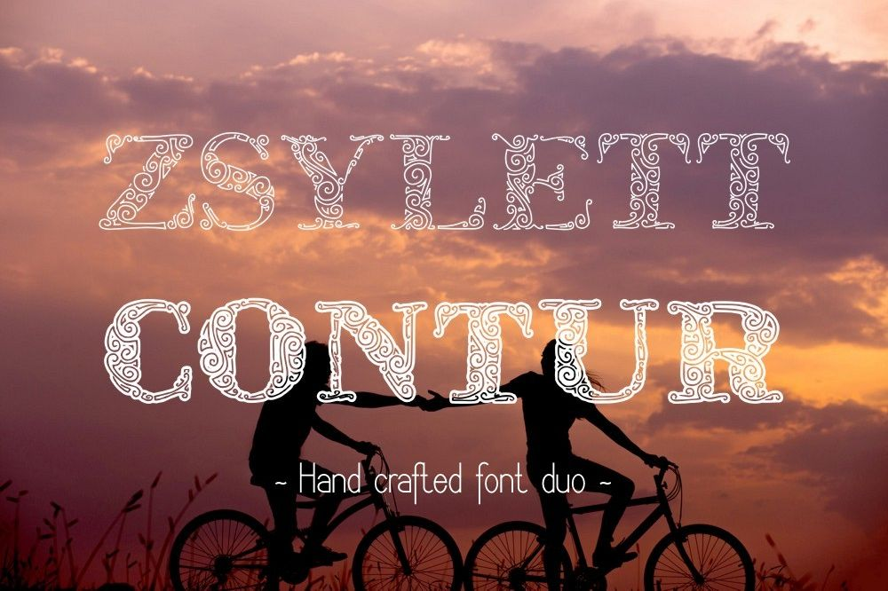 ZsylettPro decorative font example image 1