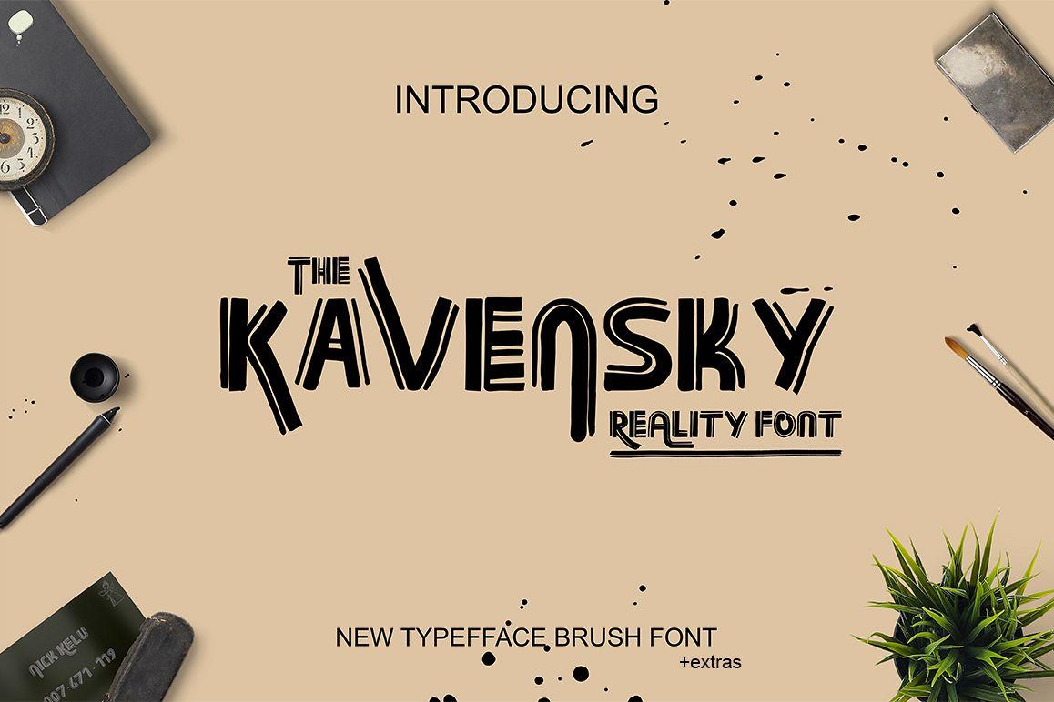 Kavansky Logo Font example image 1