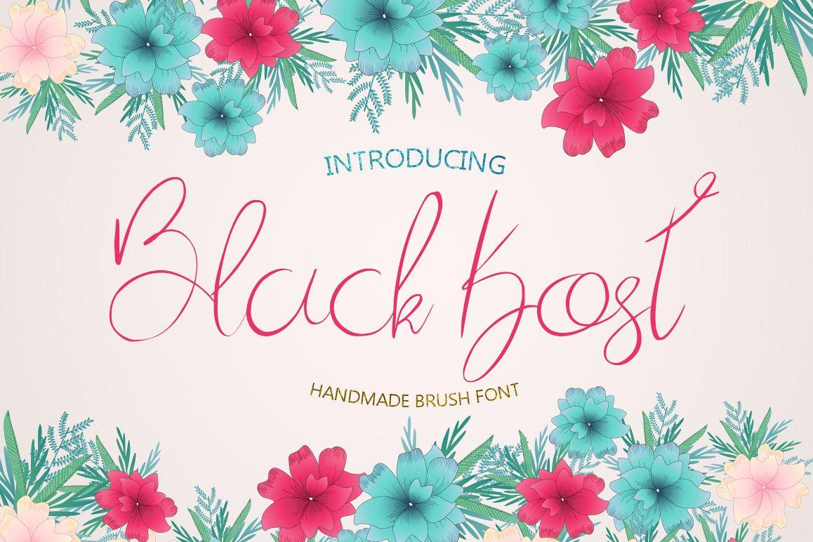 Black Kost Script example image 1