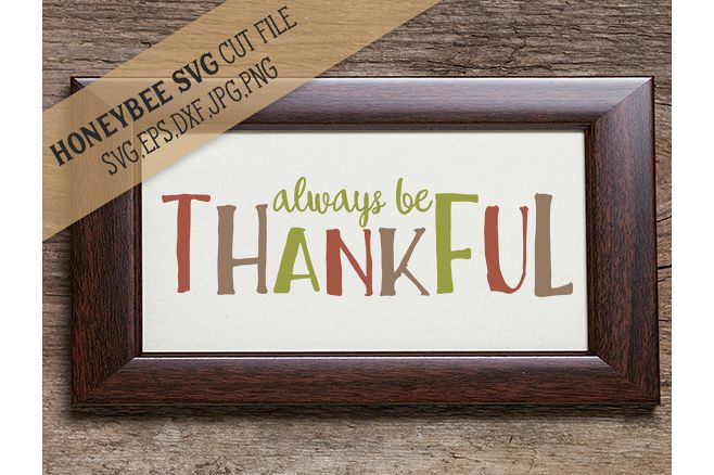 Always Be Thankful svg example image 1