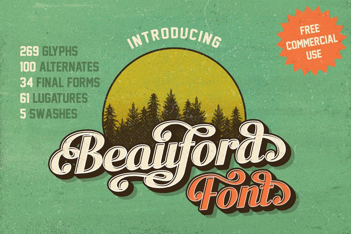Beauford Font  example image 1