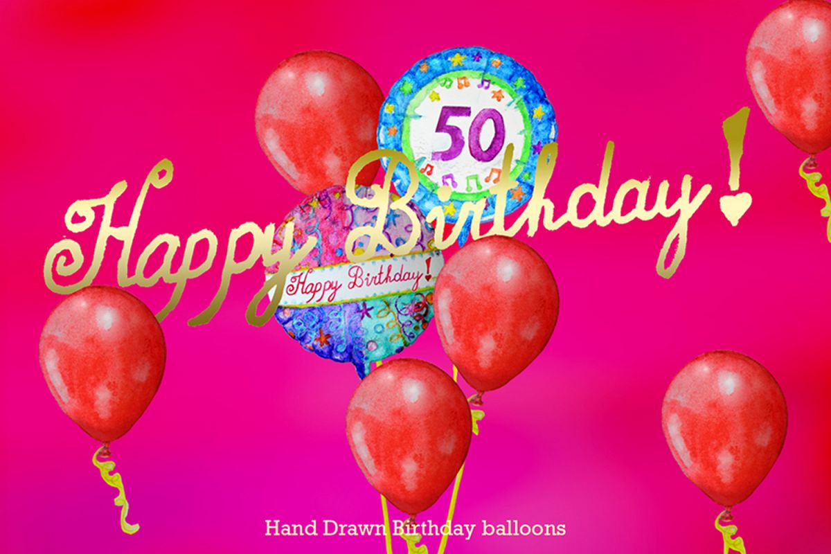 Hand Drawn Birthday Balloons example image 1