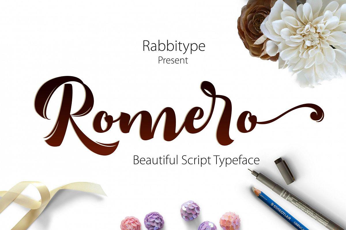 Romero Script example image 1
