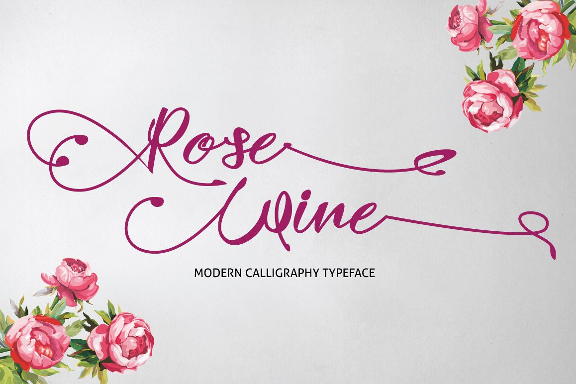 Download Rose Wine Typeface