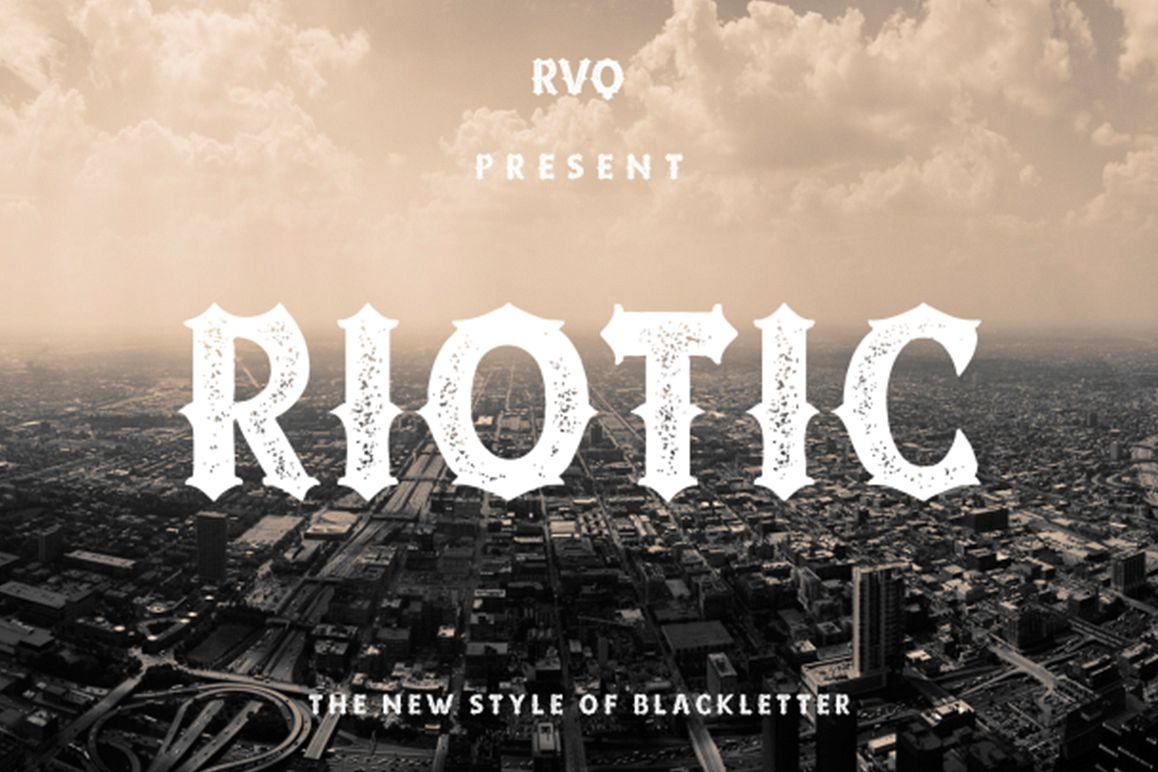 Riotic typeface example image 1