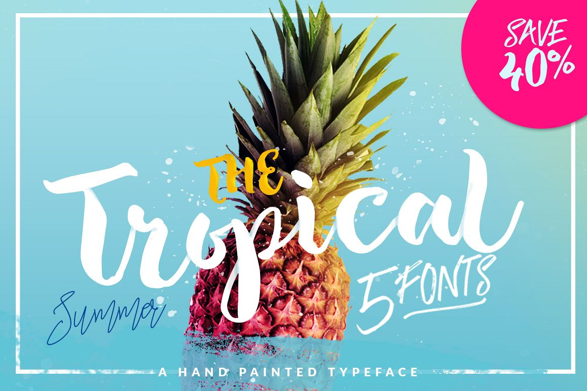 The Tropical - 5 Fonts - 40% OFF example image 1
