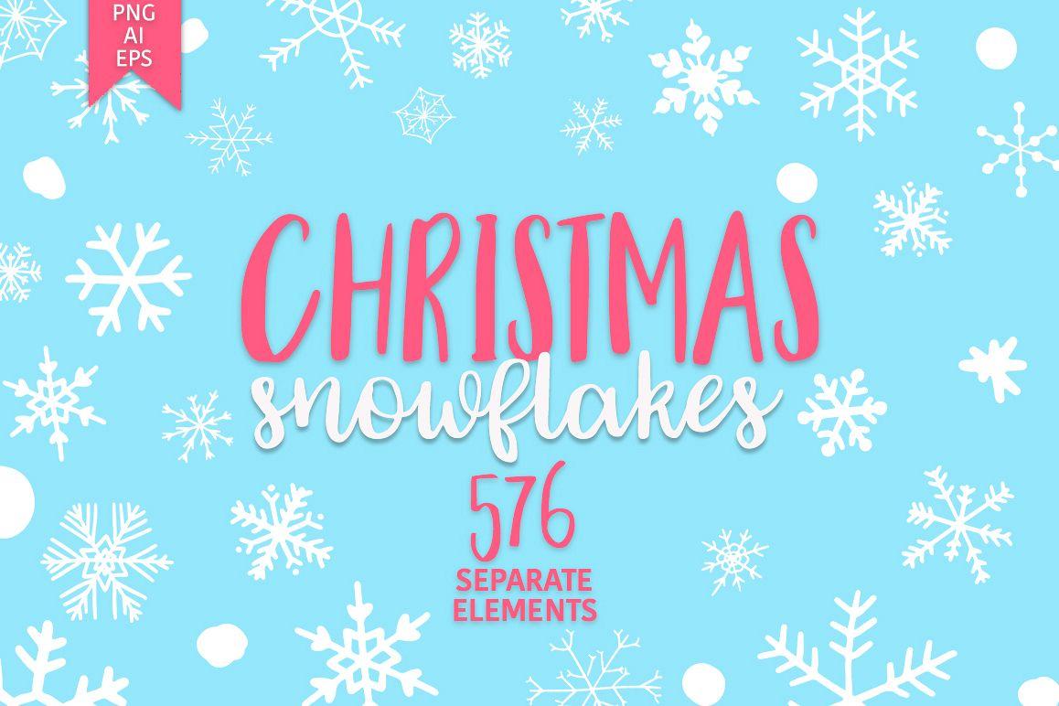 Christmas snowflakes example image 1