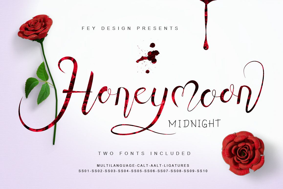 Honey Moon Midnight Two Fonts example image 1