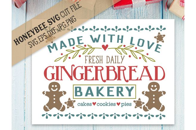 Gingerbread Bakery svg example image 1