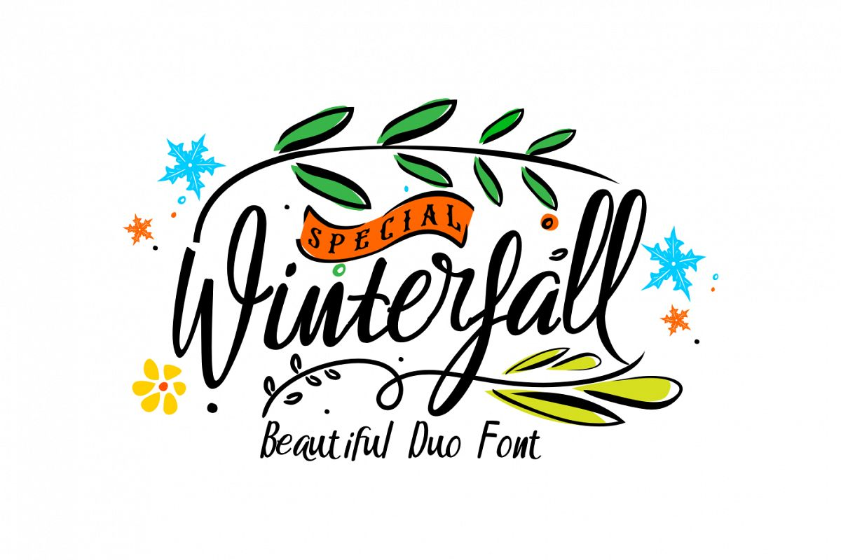 Winterfall Duo Font example image 1