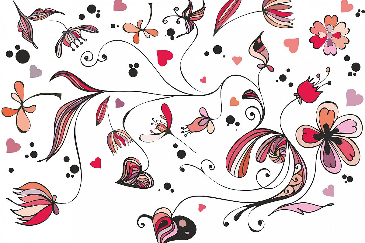 Valentine's day doodles example image 1