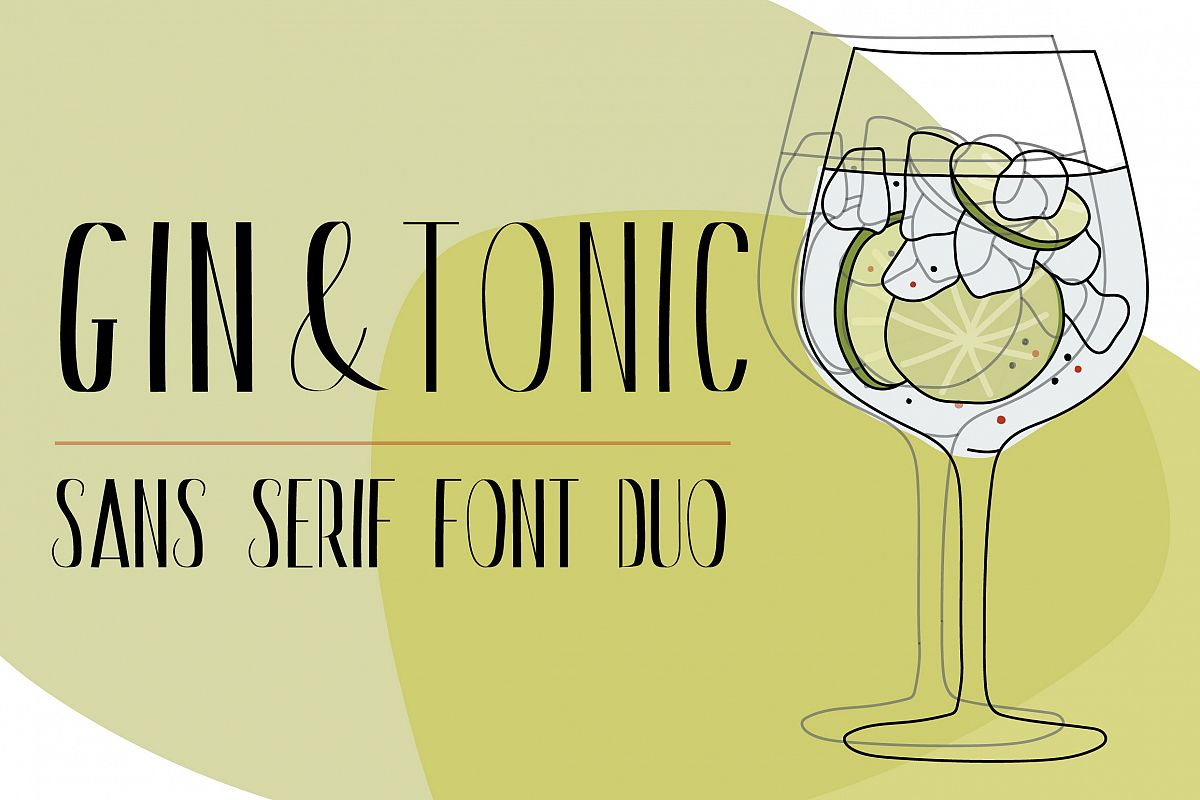 Gin And Tonic | Sans Serif Font Duo example image 1