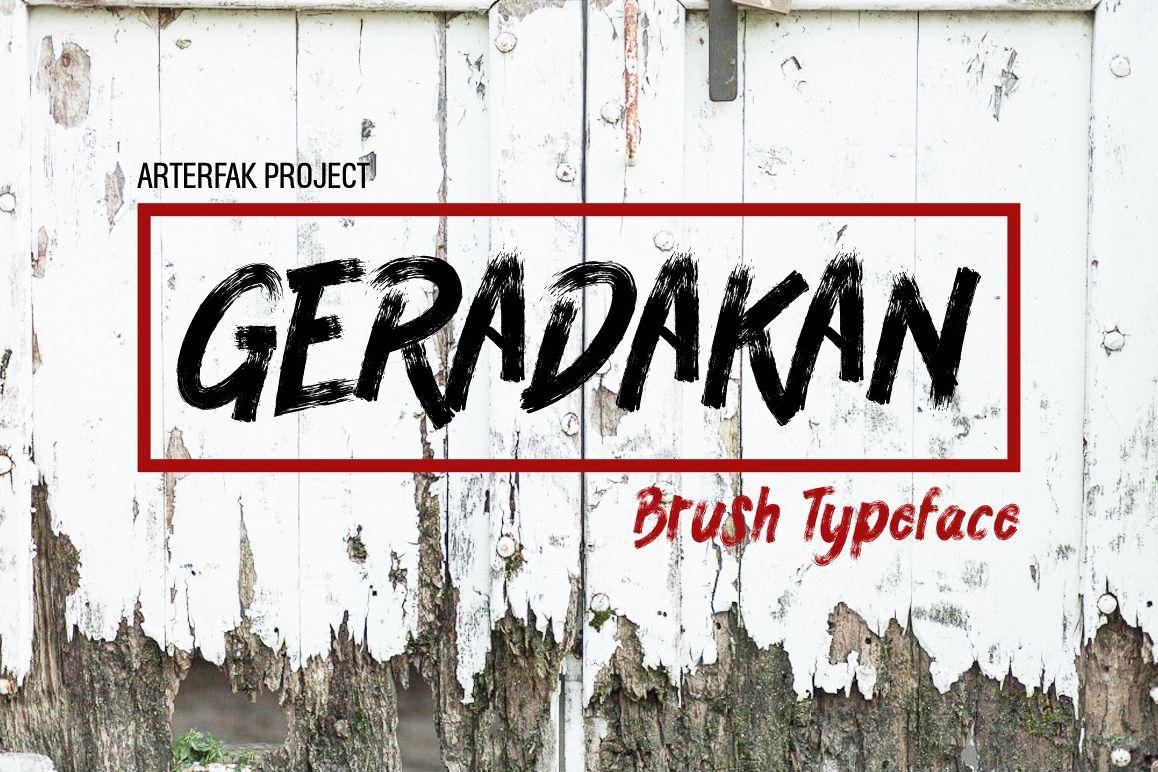 Geradakan Typeface example image 1