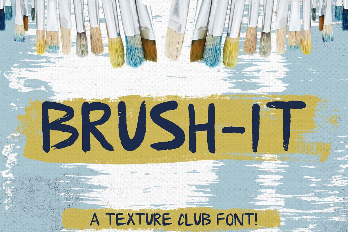 Brush-It - brushed font example image 1