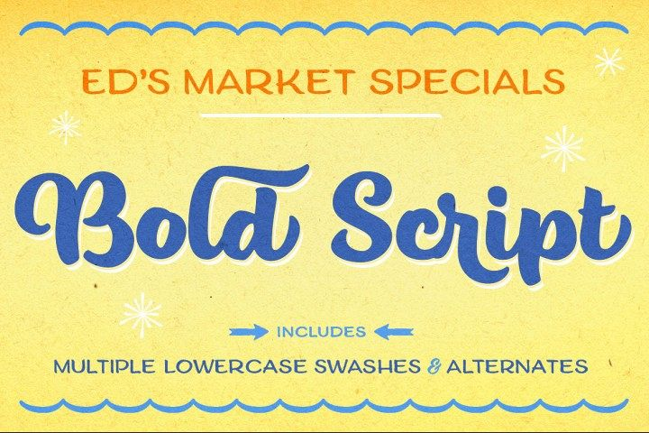 Ed's Market Bold Script example image 1