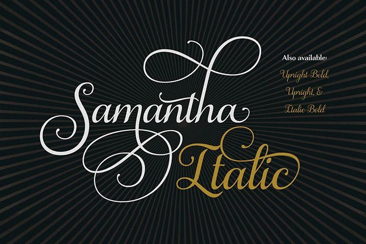 Samantha Script Italic example image 1