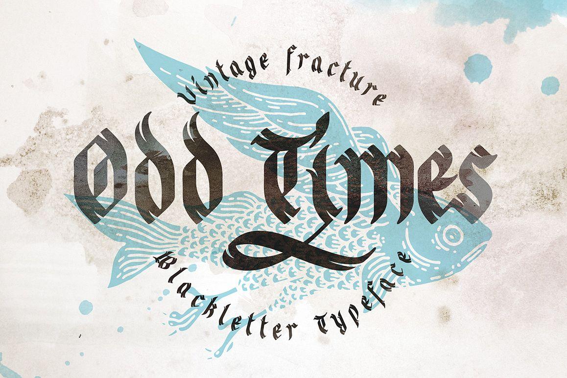 Odd times typeface + bonus graphics example image 1