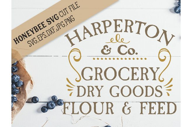 Harperton Grocery Dry Goods svg example image 1