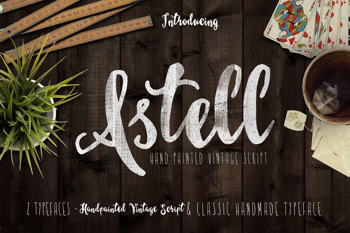 Astel Script Typeface  example image 1