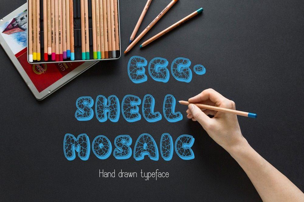 Eggshell Mosaic font example image 1