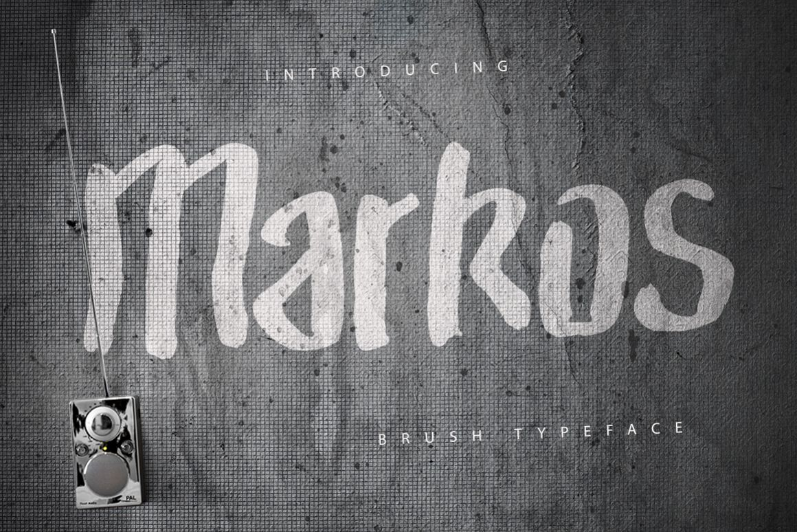 Markos Brush Typeface example image 1