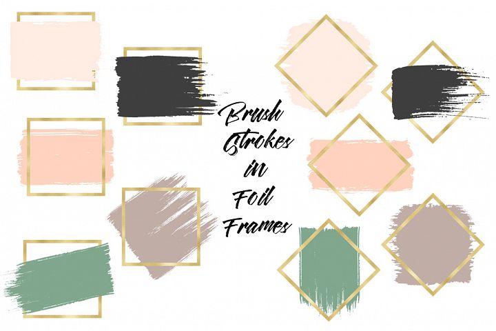 Brush Strokes & Gold Frames II example image 2