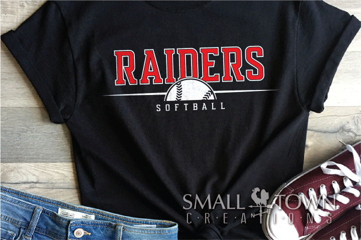 Raider, Softball, Sport, Team, Logo, PRINT, CUT, DESIGN