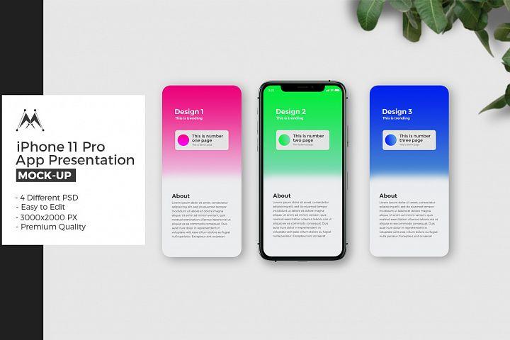 iFone 11 Pro App Presentation Mockup