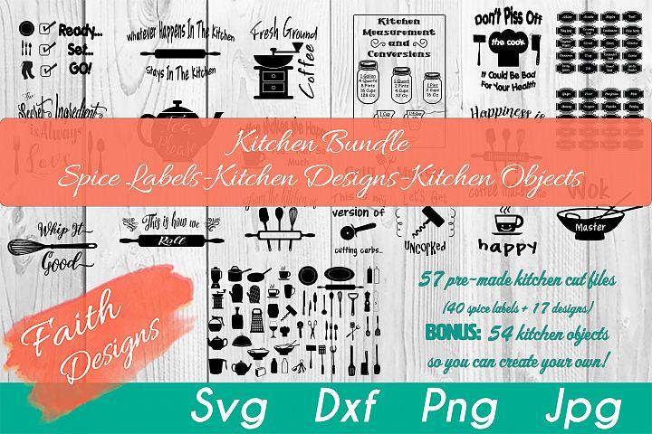 Kitchen Bundle-Spice Labels-Kitchen Designs-Kitchen Objects