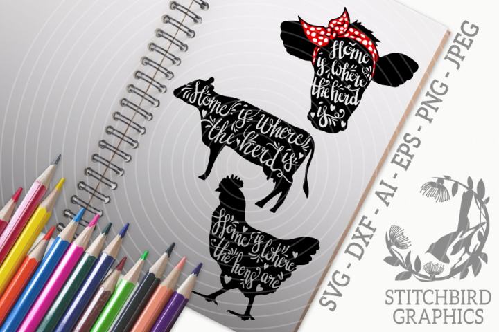 Farm Animal Quotes Bundle SVG, Silhouette Studio, Cricut
