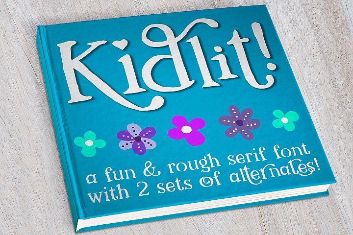 Kidlit - a fun serif font!