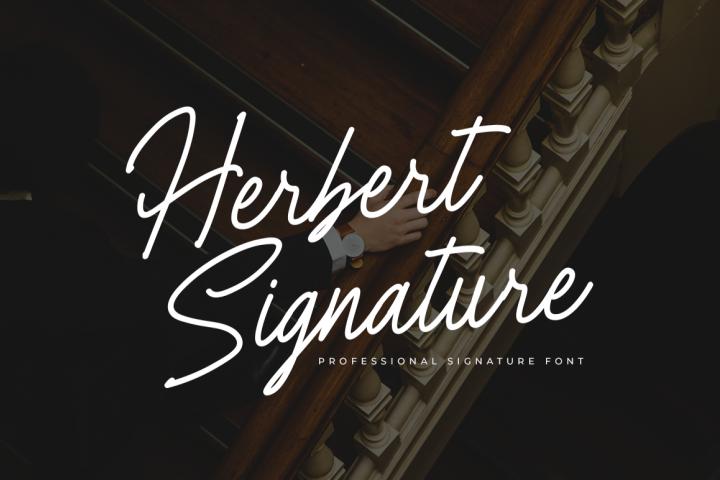 Herbert Signature Font