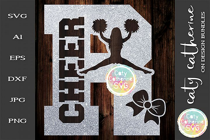 Letter R Cheerleading Monogram Letters SVG Cut File
