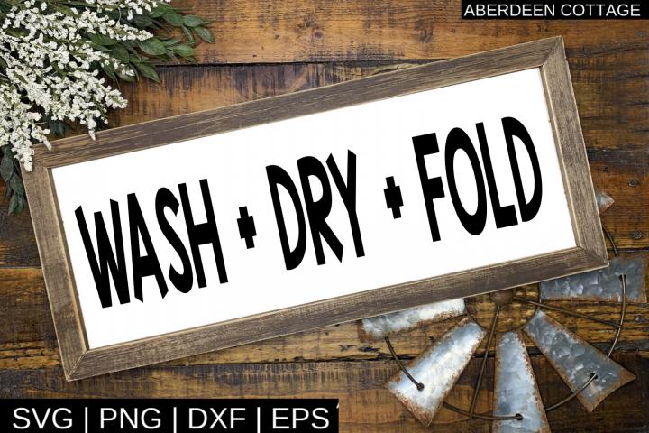 Wash Dry Fold Laundry SVG
